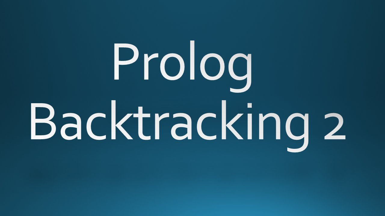 Prolog backtracking 2